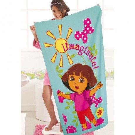 Toalla Dora Aventuras. #Dora #Recamara #Cuarto #Decoracion #Colchas #Intima #Cobertor #Ideas #IntimaHogar