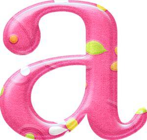 Bello Alfabeto con Fondo Rosa y Flores Blancas.