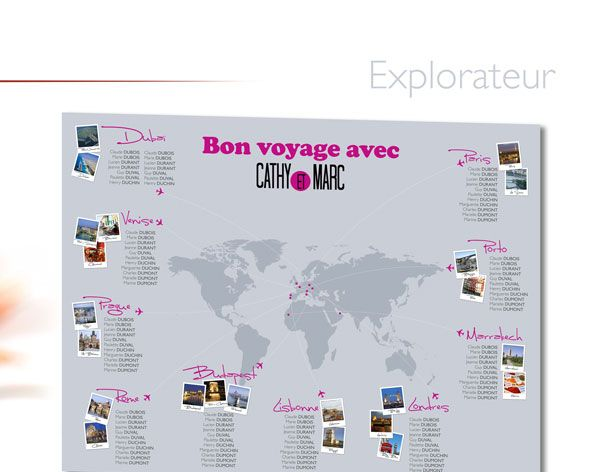 Kelly Graphic - Plan de Table mariage Voyage Explorateur
