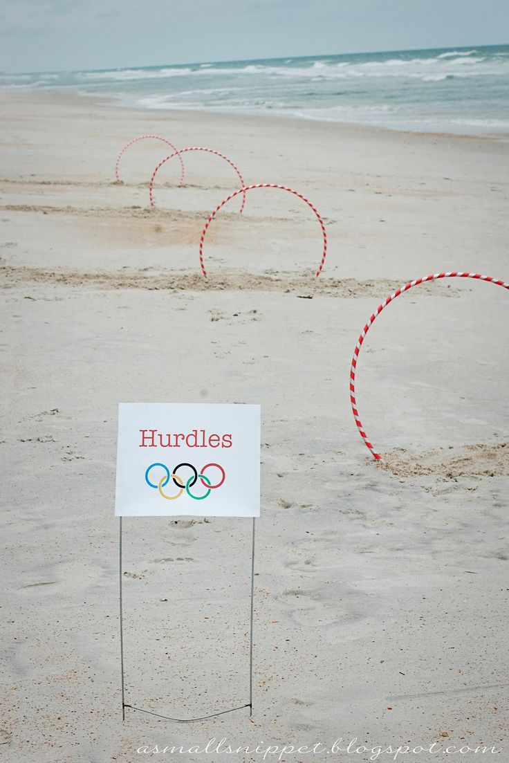Olympics Party Game Ideas From Small Snippet Love These Hoola Hoop Hurdles