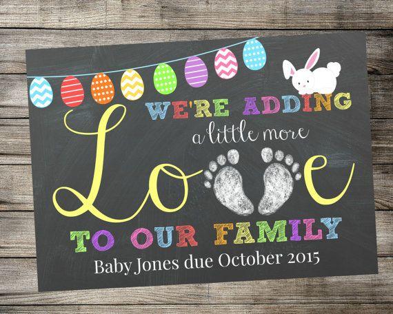 Best 25+ Easter pregnancy announcement ideas on Pinterest | Im ...