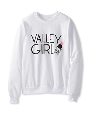 90% OFF Royal Rabbit Junior's Valley Girl Raglan Sweatshirt (White)
