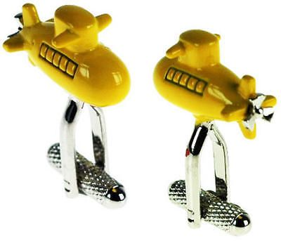 Mens #yellow #submarine sailer navy #cufflinks & gift box by onyx art,  View more on the LINK: http://www.zeppy.io/product/gb/2/351249063681/