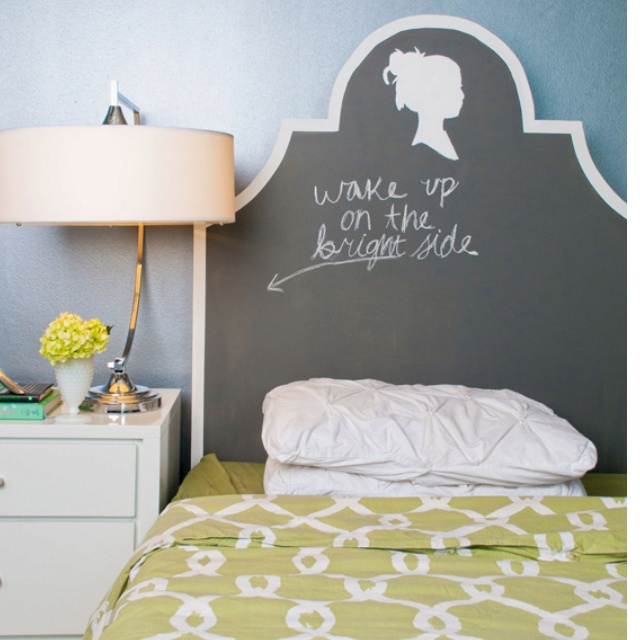 bed backboard hav bed ideas bedroom ideas chalk board gonna diys 3 4