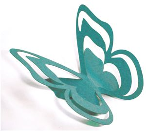 Silhouette Online Store - View Design #19803: 3d cutout butterfly