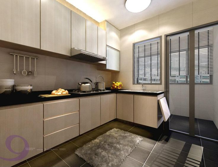 Bright and spacious feel..i like it. Might be a good idea to separate the utilities area so that the clothes won't smell like food