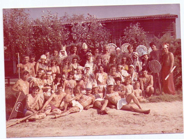 Праздник Нептуна. Юмор. Девушки . Туристы. Купальник .Цветное Фото СССР.