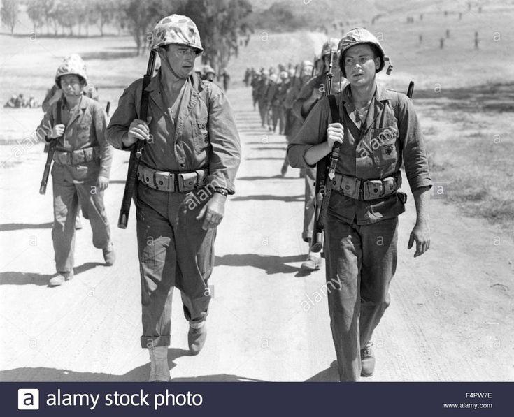 John Wayne And John Agar / Sands Of Iwo Jima / 1949 Directed By Allan Stock Photo, Royalty Free Image: 89013218 - Alamy