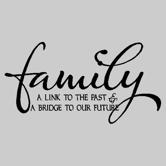 Family A Link To The Past Family Vinyl Wall Lettering Words Sayings Removable Home Wall Decal Quot Family Quotes Wall Art Quotes Family Family Wall Quotes