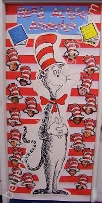 Dr. Seuss Read Across America Door Display and Bulletin Board Idea