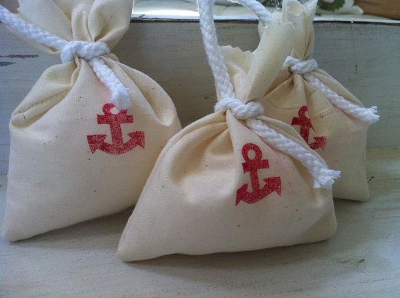Nautical Party Favor Bags Set of 20 You pick color by DaintyButton, USD ...