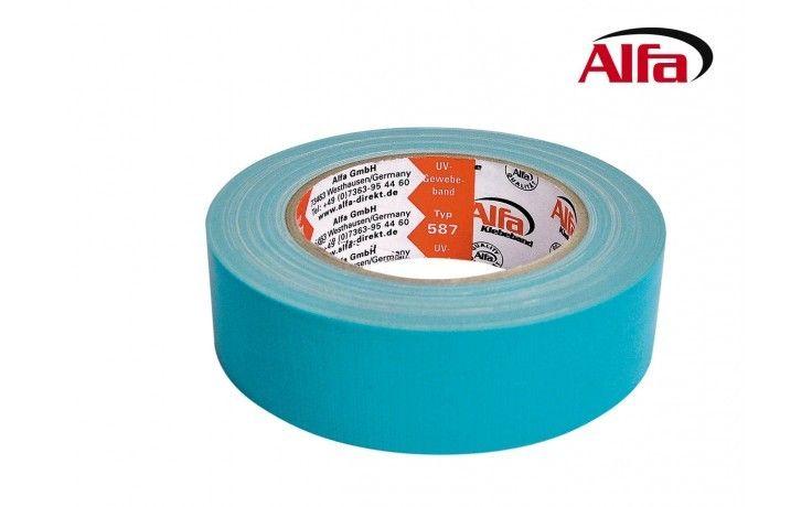 Alfa UV-Gewebeband Blau 35 mm x 25 m
