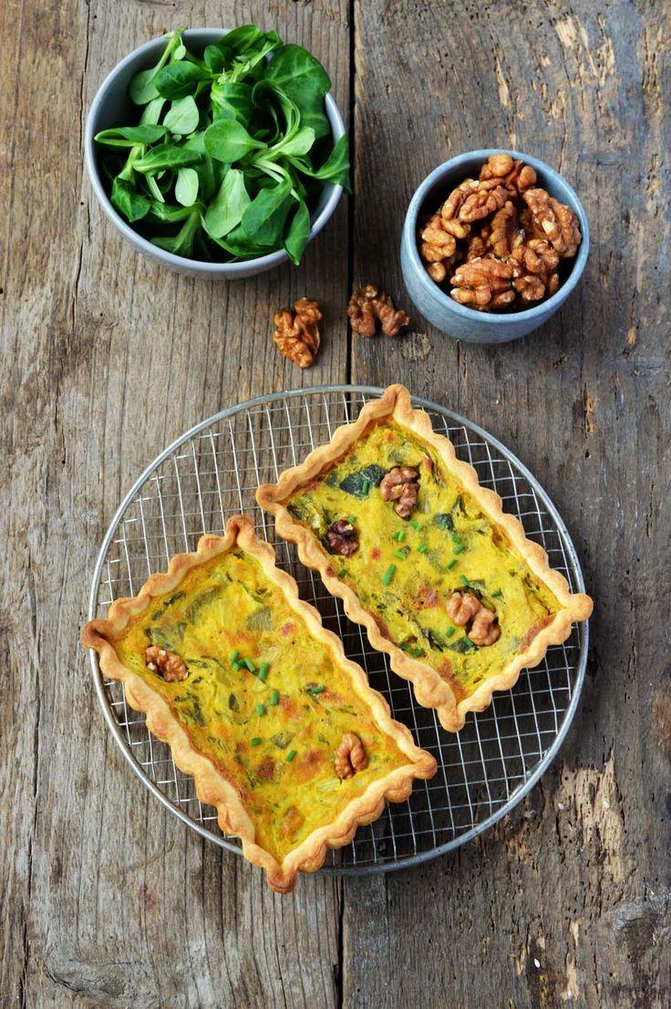 Tartelettes vegan poireaux et noix, la recette d'Ôdélices : retrouvez les ingrédients, la préparation, des recettes similaires et des photos qui donnent envie !