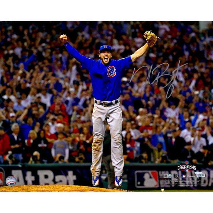 "Kris Bryant Chicago Cubs Fanatics Authentic Autographed 16"" x 20"" 2016 MLB World Series Champions Last Out Photograph"