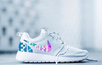 shoes nike roshe roshe runs nike roshe runs aztec tribal design new fashion swagg colors prints galaxy streetwear dunks air max all white platinum white etsy handmade sneakers tennis shoes