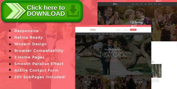 [ThemeForest]Free nulled download Flora - Responsive HTML Wedding Template from http://zippyfile.download/f.php?id=12438 Tags: bootstrap, bride, clean, couple, engagement, events, groom, honeymoon, invitation, love, marriage, romance, simple, wedding