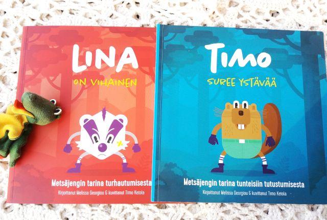 Lina On Vihainen Timo Suree Ystavaa Lastenkirjat Tunteet Paras Ystava