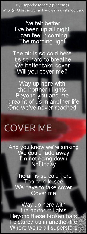 Depeche Mode - Cover Me lyric #DepecheMode #Cover_Me #Spirit #music