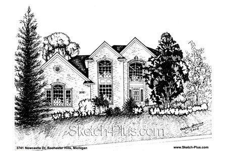 Architectural Sketch: 3741 Newcastle Dr. Rochester Hills, MI