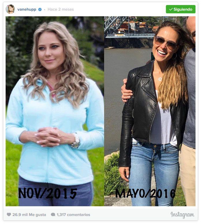 La increíble transformación de la figura de Vanessa Huppenkothen
