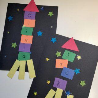 Outer Space Crafts: Alphabet Spaceship Craft
