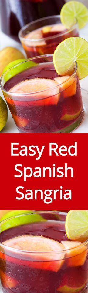 Easy Homemade Sangria Recipe - How To Make Spanish Red Wine Sangria   MelanieCooks.com