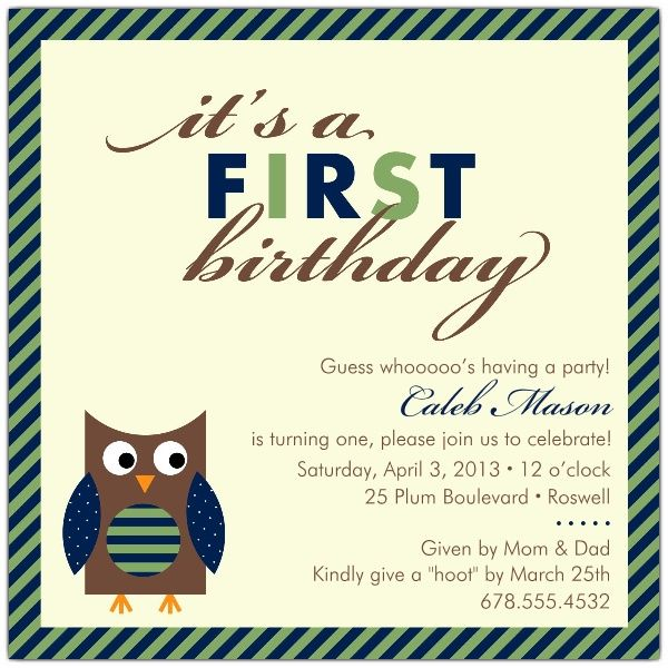 33 best birthday invitations images on pinterest anniversary ideas baby owl blue first birthday invitations stopboris Gallery