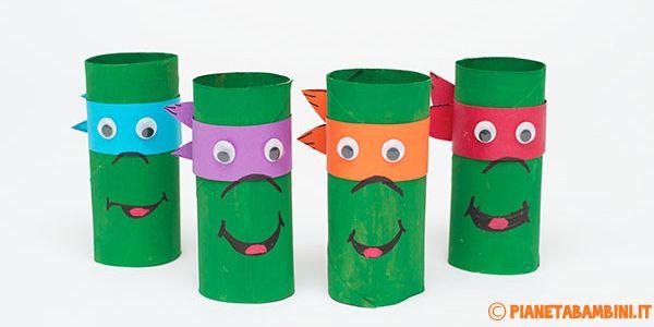 Come creare le Tartarughe Ninja con rotoli di carta
