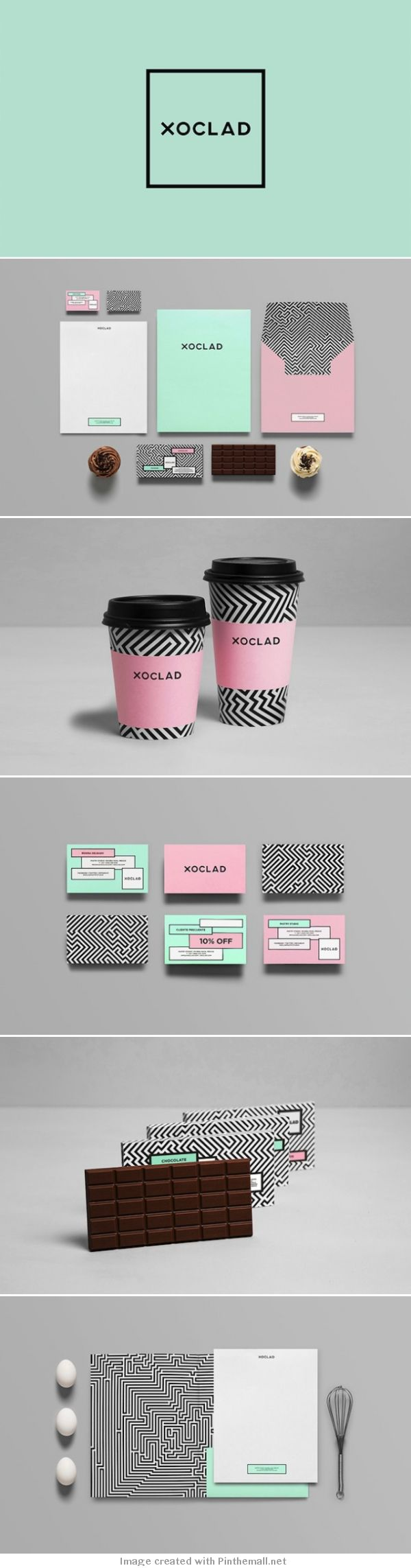 How about this minimalist branding with fun color palette? We love this! #minimalist #colorpalette