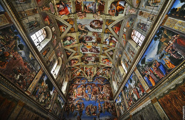 Sistine Chapel is the best-known chapel in the Apostolic Palace, the official residence of the Pope in the Vatican City. Rome, Italy
