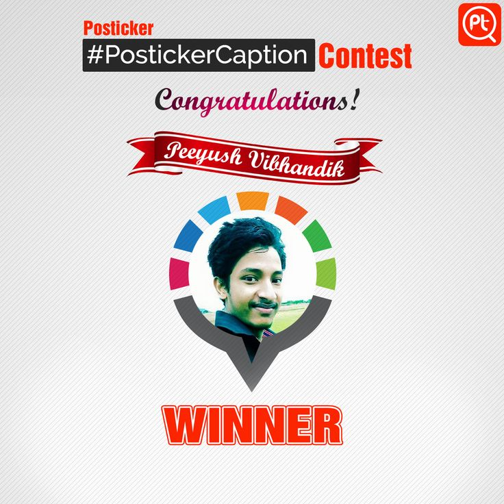 Congratulations to @PeeyushVibhandik on winning grand prize of #PostickerCaption contest. Our special thanks reach out to @VisheshMalik, @ArbellaSnow, @AkshayMahendra and all other participants.
