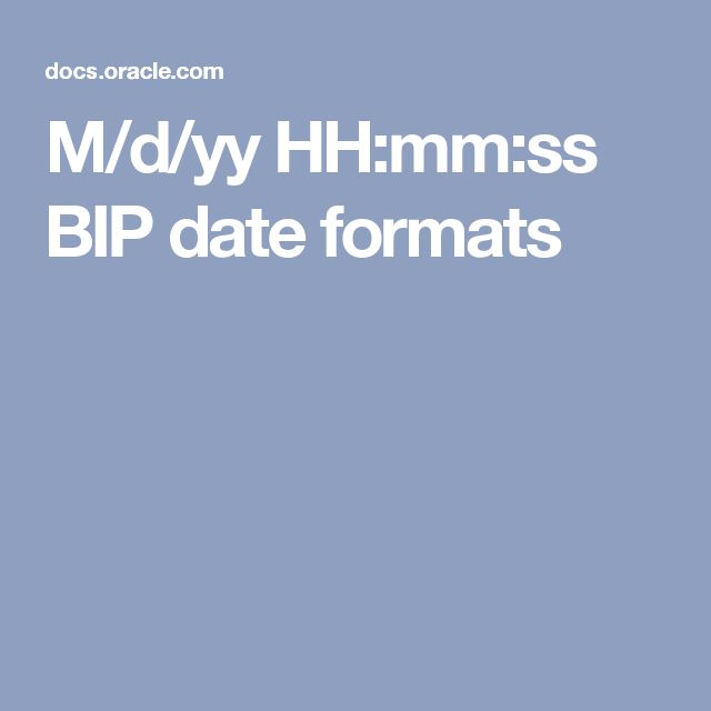 mdyy hhmmss bip date formats