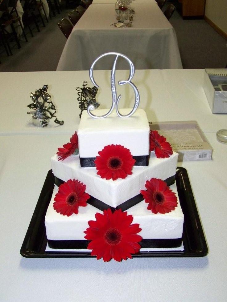 Tosha Anderson Original Gerber Daisy Wedding Cake Gerbera Daisy Wedding Cake: Pink Flower