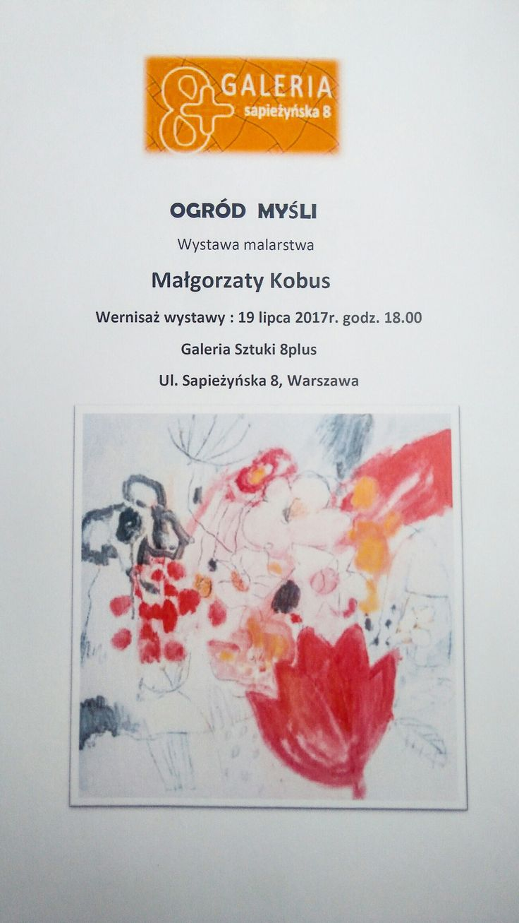 My Solo show on Warsaw
