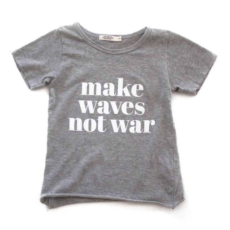 this anti-war protesting slogan is the ultimate print for any freedom-lovin' kid with a penchant for peace & protection of our wonderful world....