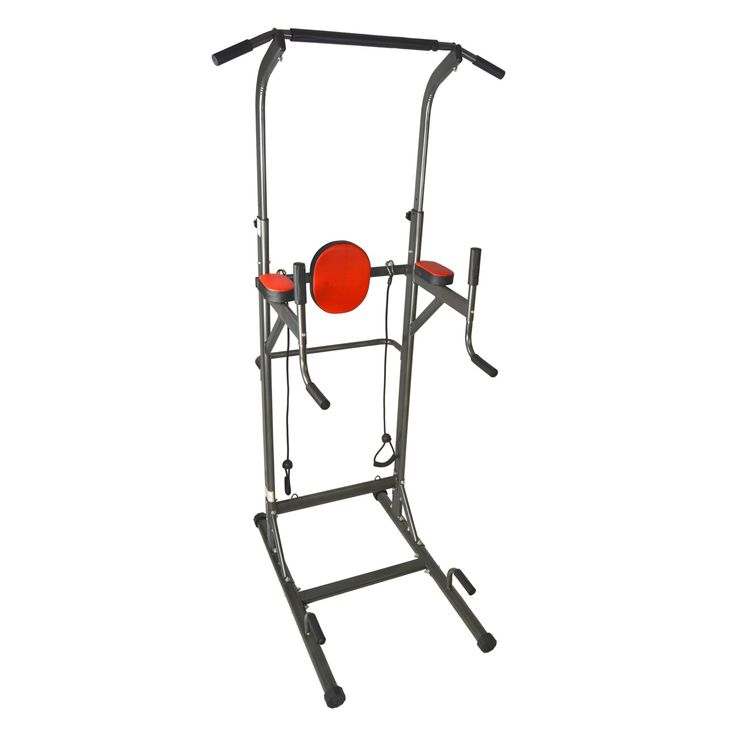 Compared to competing pull up dip stations, Iron Jack Fitness VKR Chin up/ Push-up /Dip/Ab Workout Tower is designed to provide a space efficient workout solution for performing a variety of exercise