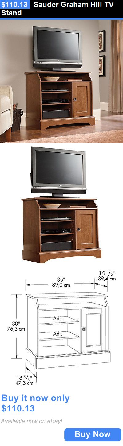 Entertainment Units TV Stands: Sauder Graham Hill Tv Stand BUY IT NOW ONLY: $110.13