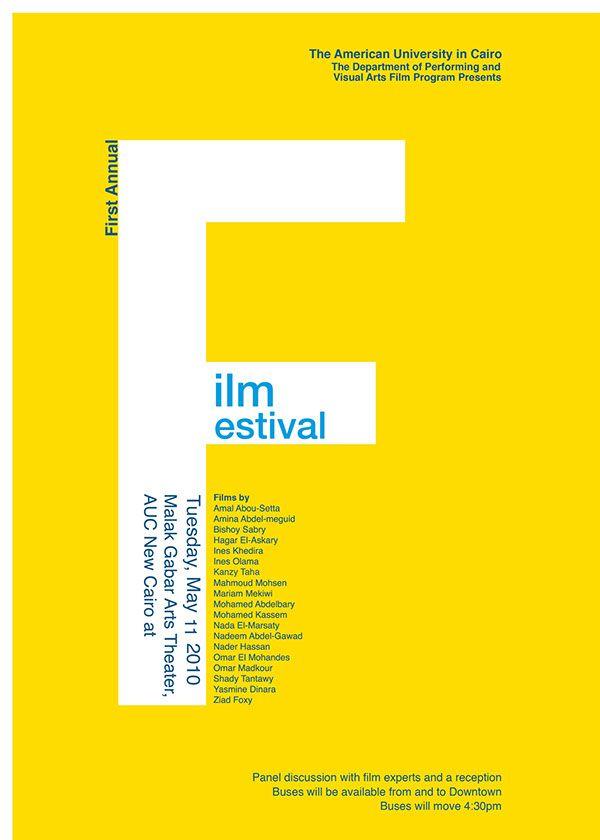 Student Film Festival Typographic Poster on Behance