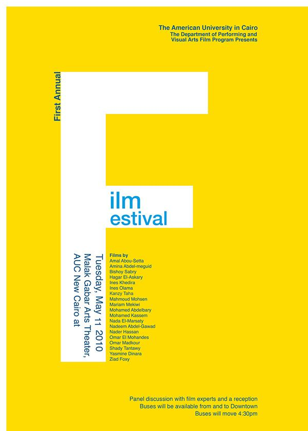 Student Film Festival Typographic Poster on Behance