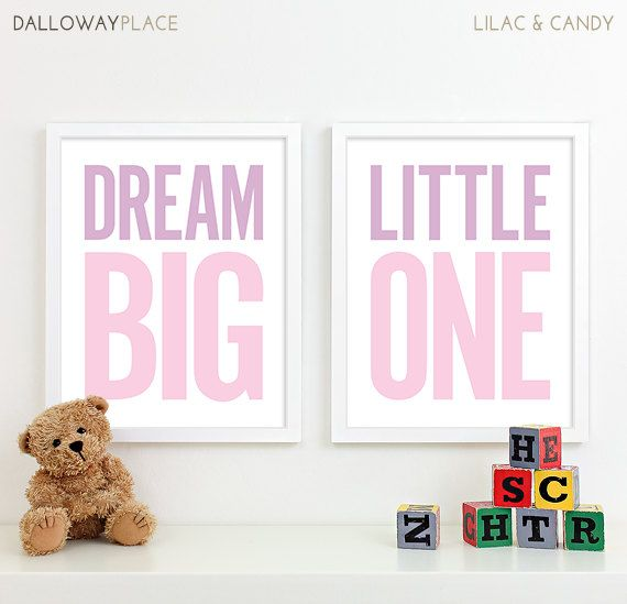 Baby Girl Nursery Decor Girl Nursery Art, Kids Wall Art Baby Shower Gift for Baby Girl Gift for Baby - Two 11x14 on Etsy, $40.00 Heck! For $40 I'd make it myself! This would be cute for either a boy or a girl.