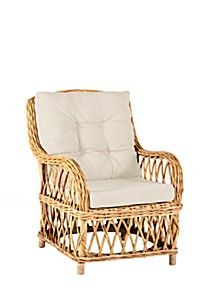 RATTAN WEAVE WINGBACK CHAIR