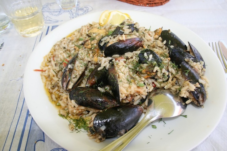 Just one of the many styles of food that will be served at OGT. :) Mussel Risotto, for a classic Mediterranean experience.