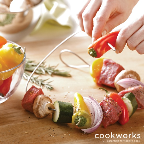Fire Wire Flexible Grilling Skewer is an ingenious cable-style grilling skewer that makes grilling easier than ever before.