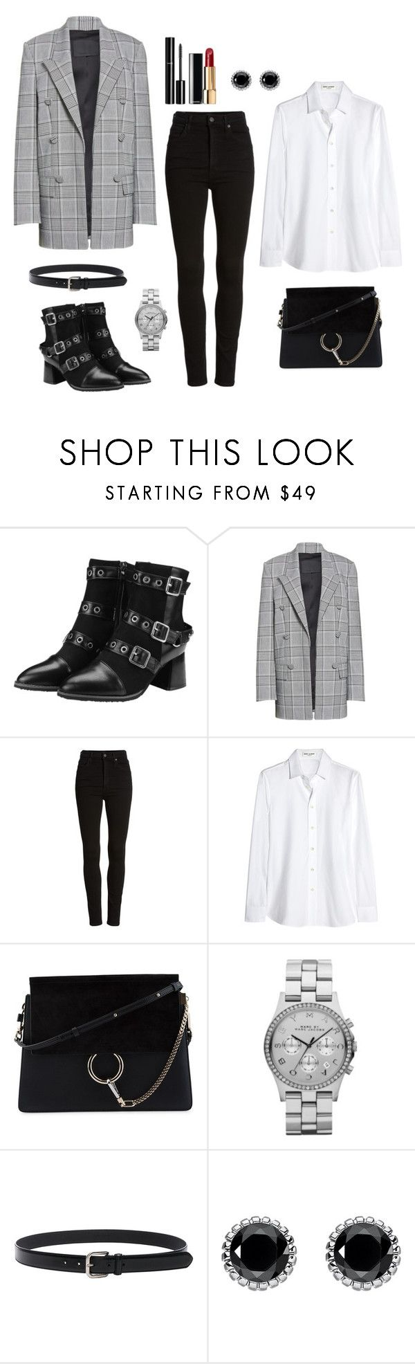 """Untitled #355"" by bajka2468 on Polyvore featuring Alexander Wang, Citizens of Humanity, Yves Saint Laurent, Chloé, Chanel, Marc by Marc Jacobs, Maison Margiela, Thomas Sabo and CoffeeDate"