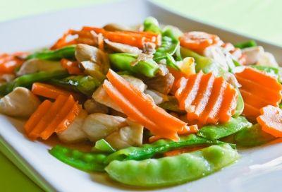 Groenteschotel met Oesterzwammen: een smaakvol groentegerecht dat eindeloos te variëren is met groente van het seizoen!