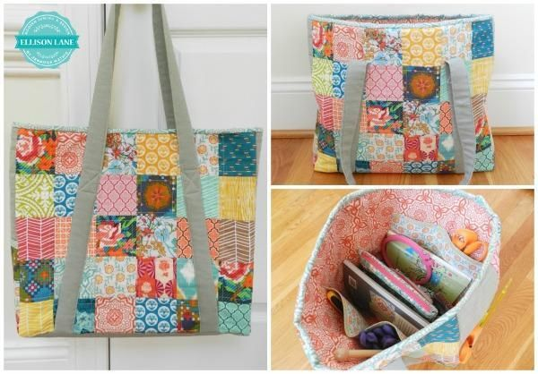 Quilted Knitting Bag Pattern Free : Design on a dime with free patterns in sewing knitting