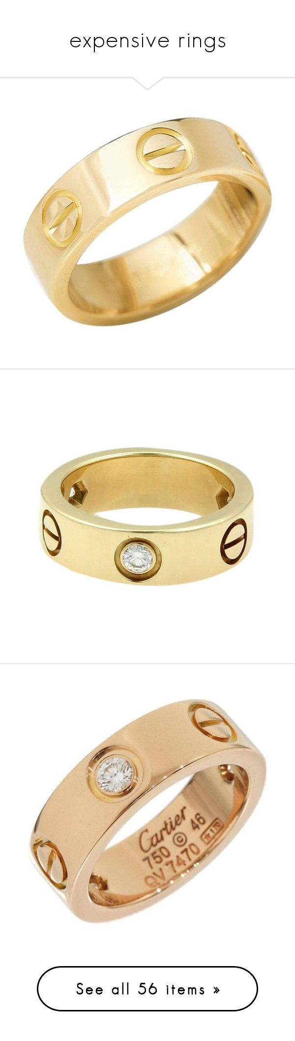 """""""expensive rings"""" by mrstomlinson974 on Polyvore featuring jewelry, rings, band rings, yellow, gold jewelry, gold rings, engraved jewelry, gold engraved ring, 18k gold jewelry and gold jewellery"""