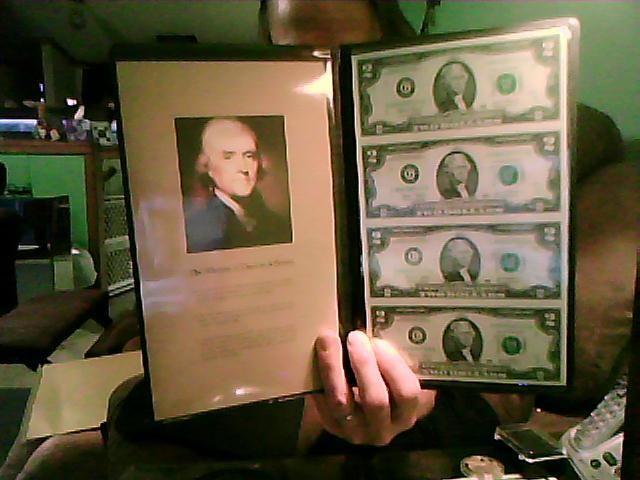 FOUR UNCUT $2.00 DOLLAR BILLS 2003