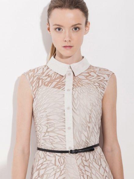 Платье из вискозного органди с эффектом деворэ