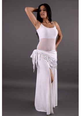 Tenue d'entrainement danse orientale - Blanc - Perle Orientale